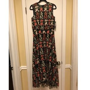BEAUTIFUL embroidered Tahari Dress. High/low